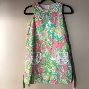 Lilly Pulitzer Crochet Pocket Shirt Dress